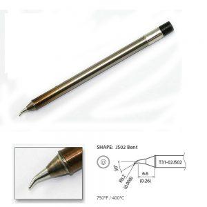 T31-02JS02 Angled Soldering Tip R0.2mm / 30 x 1.8mm x 6.6mm 400°C