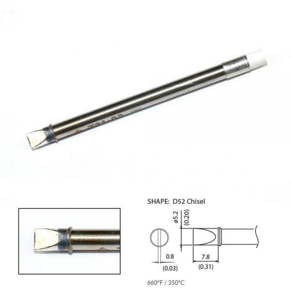 T31-03D52 Chisel Soldering Tip 5.2 x 7.8mm 350°C
