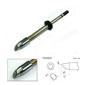 T33-BC6 Bevel Soldering Tip 6mm/45° x 13mm