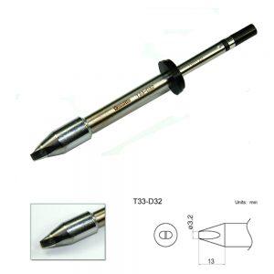 T33-D32 Chisel Soldering Tip 3.2mm x 13mm
