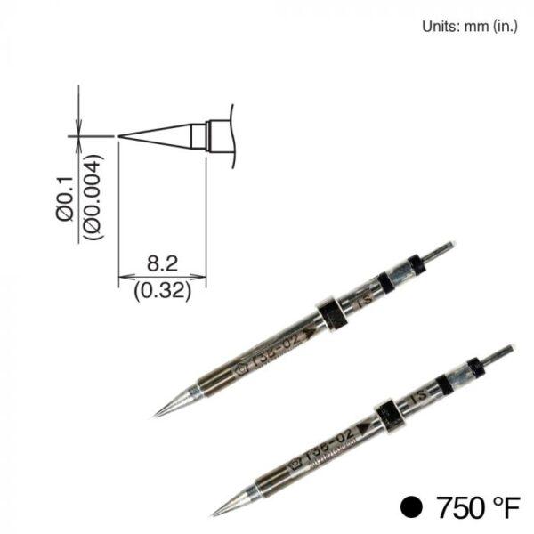 T38-02IS Micro Tweezer Tips