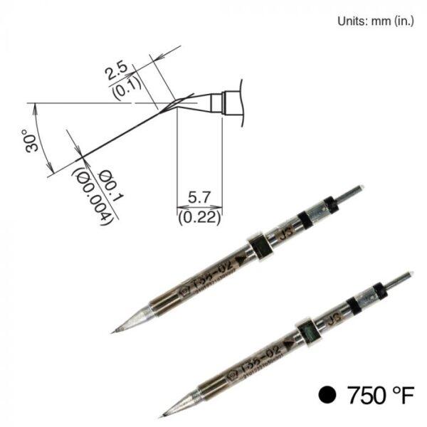 T38-02JS Micro Tweezer Tips