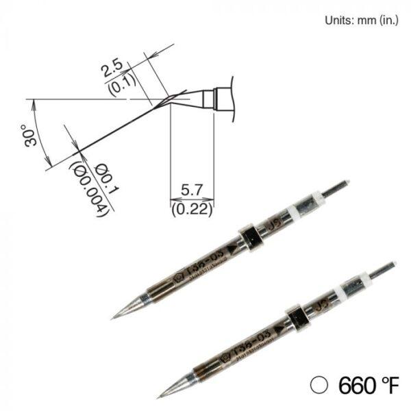 T38-03JS Micro Tweezer Tips
