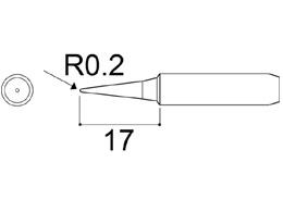 900M-T-I Fine Soldering Iron Tip R0.2 x 17mm