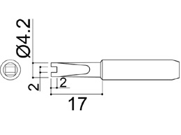 900M-T-RT Groove Soldering Iron Tip 2mm