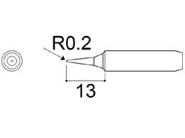 900M-T-SI Fine Soldering Iron Tip R0.2 x 13mm